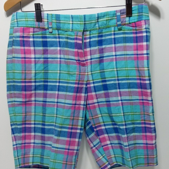 Talbots Pants - Talbots 2P Perfect Short Womens Plaid Zip 28 Waist
